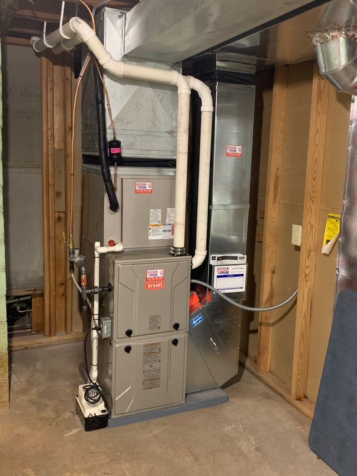 Mound, MN - Install all new ductwork and Bryant evolution furnace and air conditioner with connex thermostat in Orono MN