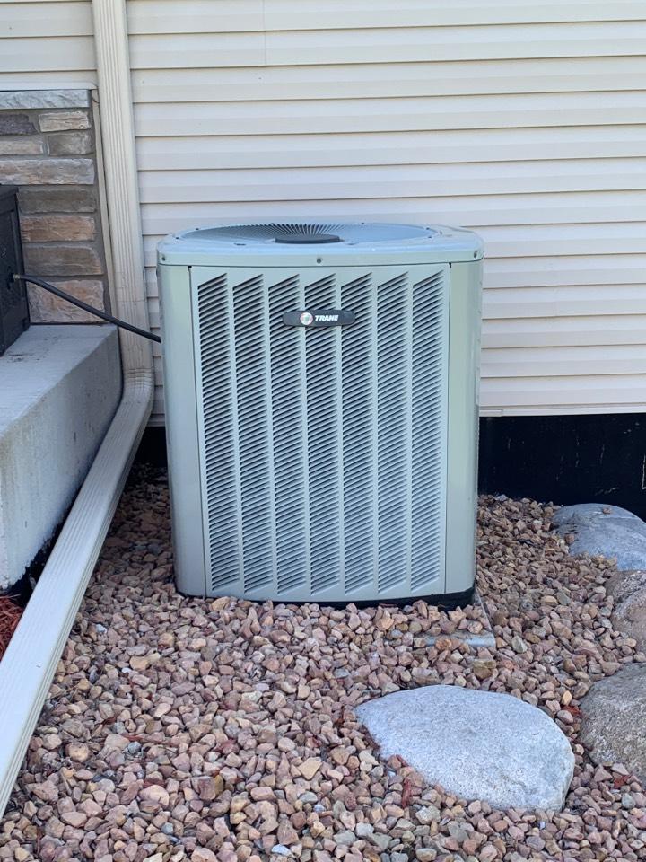 Delano, MN - Leveled AC outdoor unit in Delano Mn