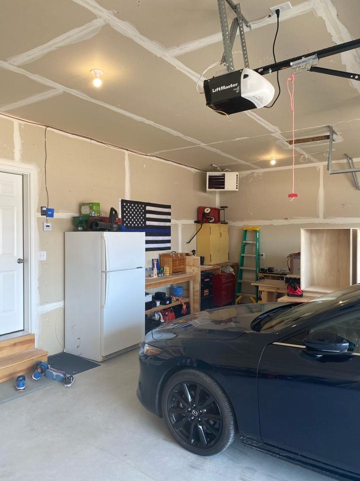 Reznor garage heater install St Micheal MN