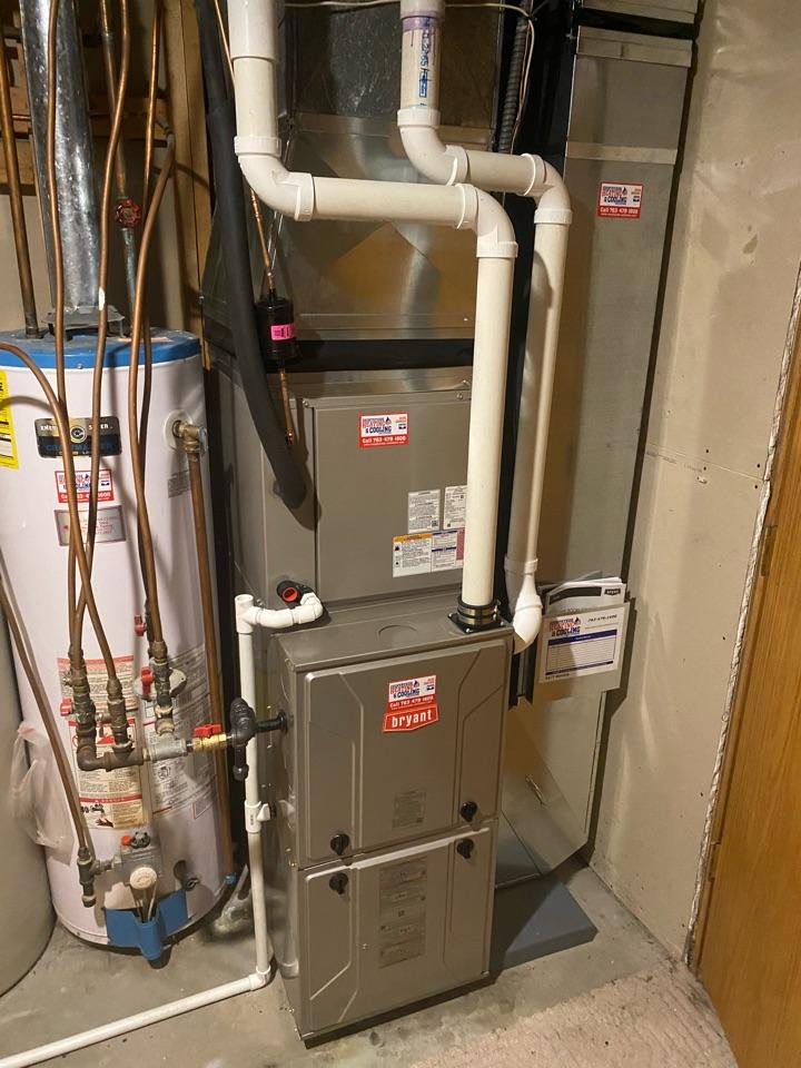 Delano, MN - Bryant furnace and ac install Delano MN