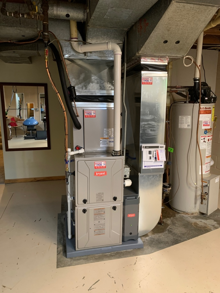 Mound, MN - Install new Bryant evolution furnace and air conditioner with connex thermostat in mound MN