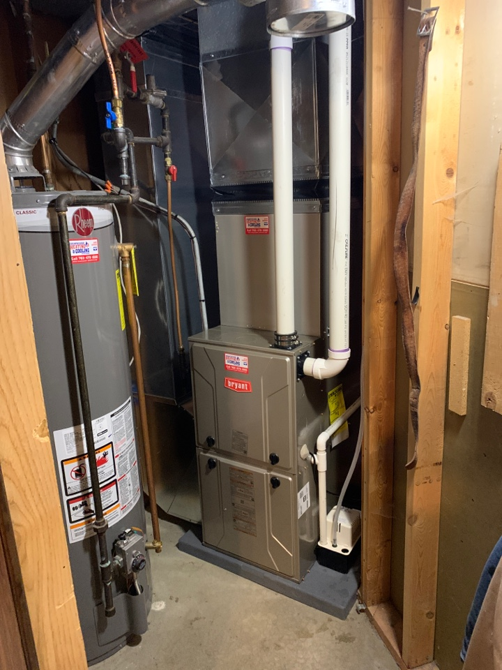 Plymouth, MN - Install new Bryant evolution furnace and air conditioner with connex thermostat in Plymouth MN