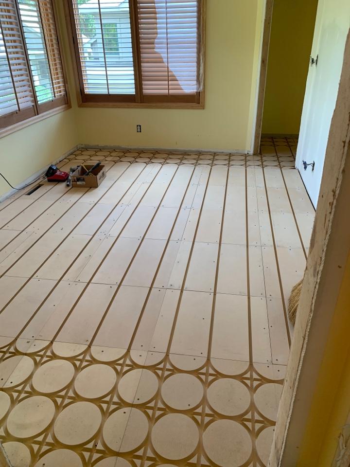 Wayzata, MN - Install new subfloor for in floor heat in wayzata MN