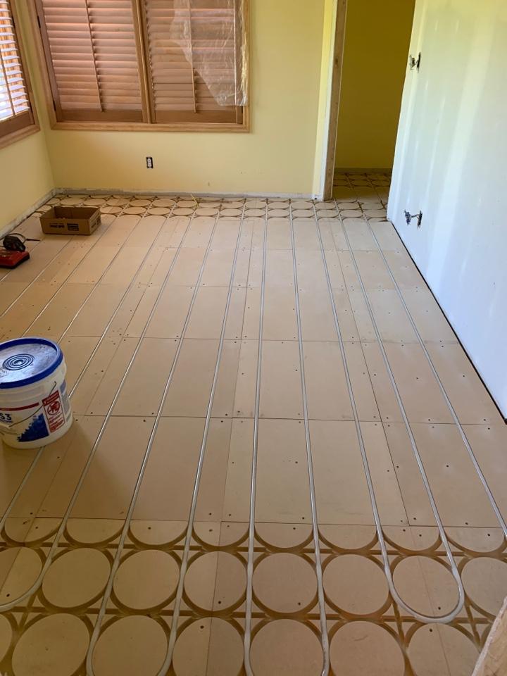 Wayzata, MN - Install in floor heat in home in wayzata MN