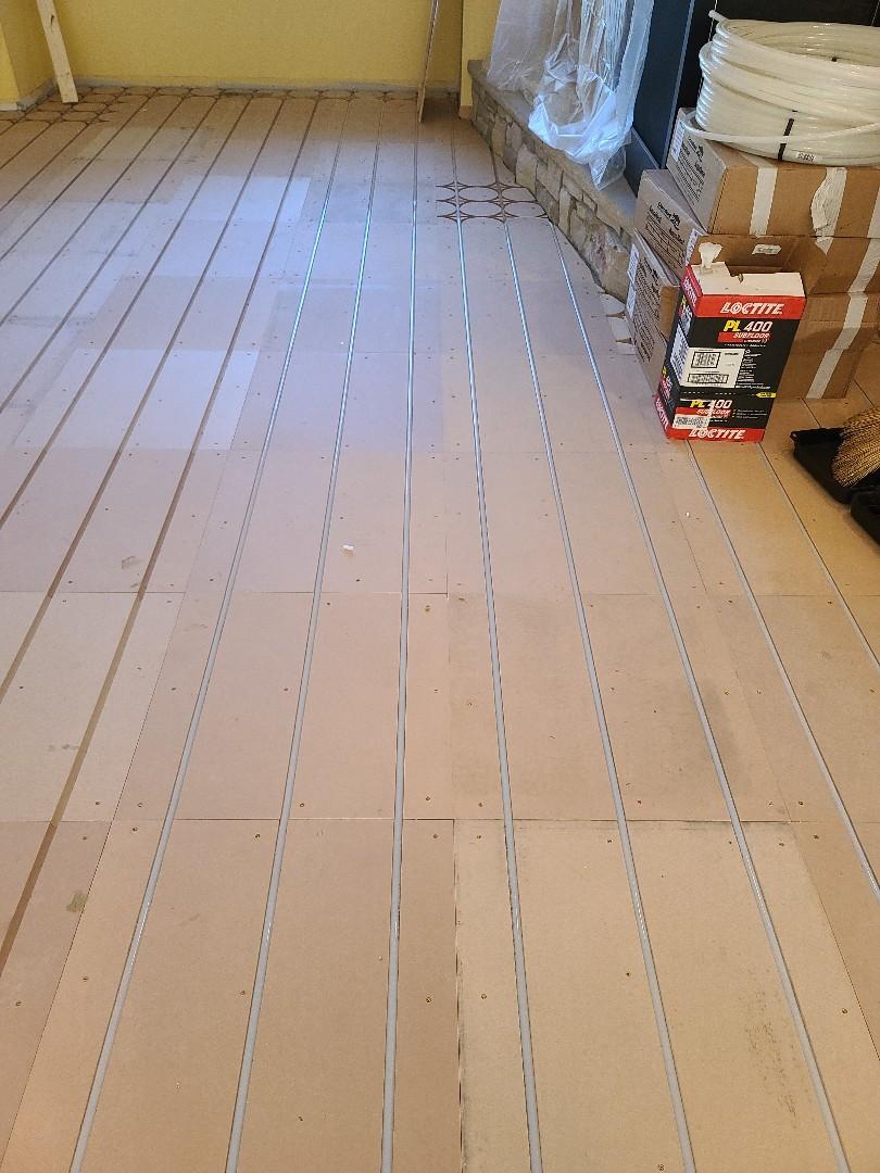 Wayzata, MN - Laying floor for in floor heat wayzata MN