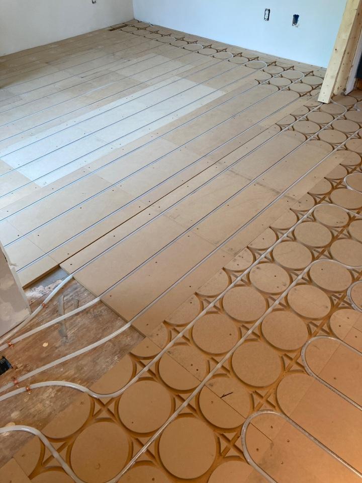 Wayzata, MN - In floor heating install in Wayzata