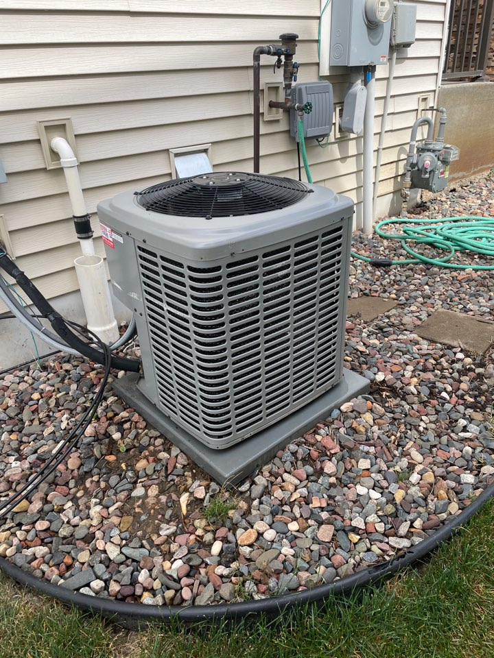 Rogers, MN - Tuned up a luxaire ac at a home in Rogers, MN!