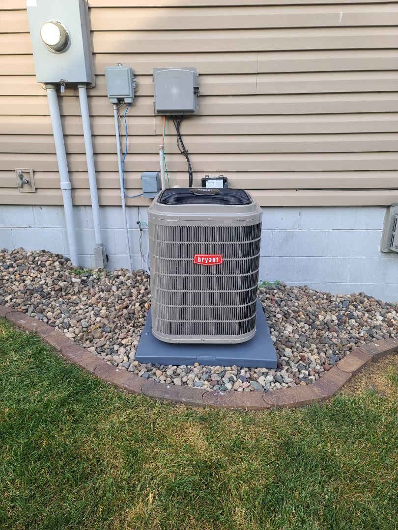 Watertown, MN - Installed a bryant a/c Watertown MN