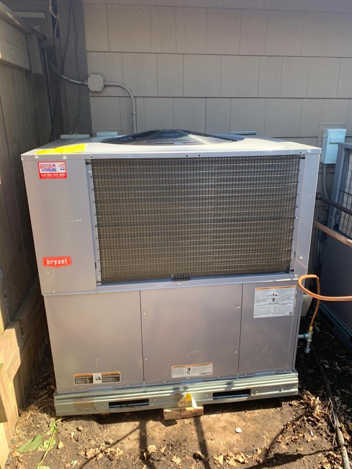 Wayzata, MN - Install new outdoor furnace and A/c in wayzata MN