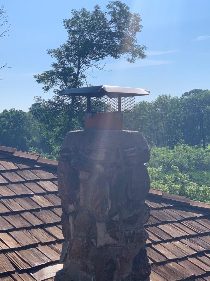 Wayzata, MN - Installed chimney caps in long lake Mn