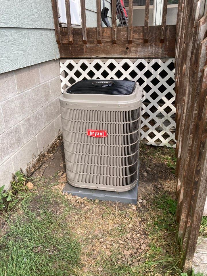 Bryant AC install in Loretto