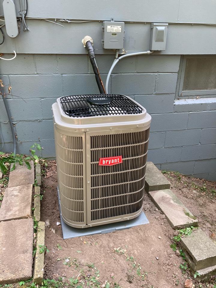 Bryant furnace and AC install in Minnetonka