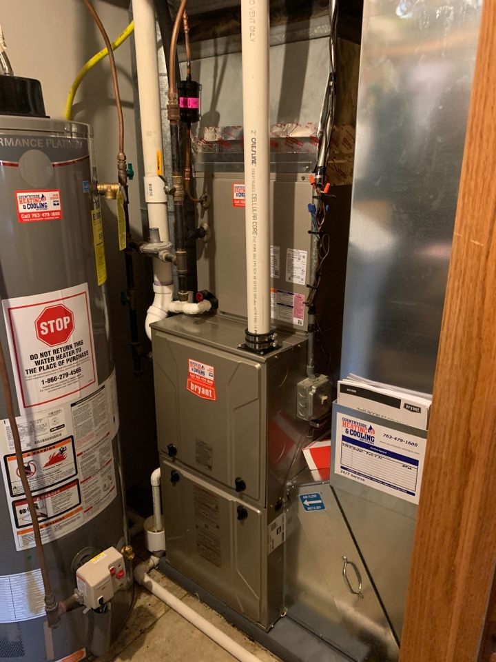 Wayzata, MN - Install new Bryant evolution furnace and air conditioner with connex thermostat in wayzata MN