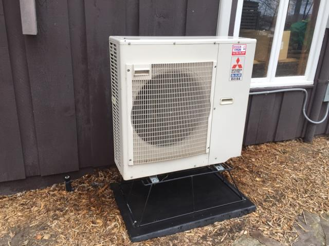 Ductless AC install in Hamel