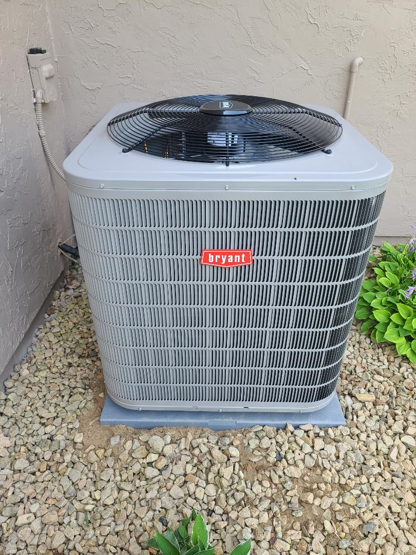 Bryant A/C installed in Chaska MN