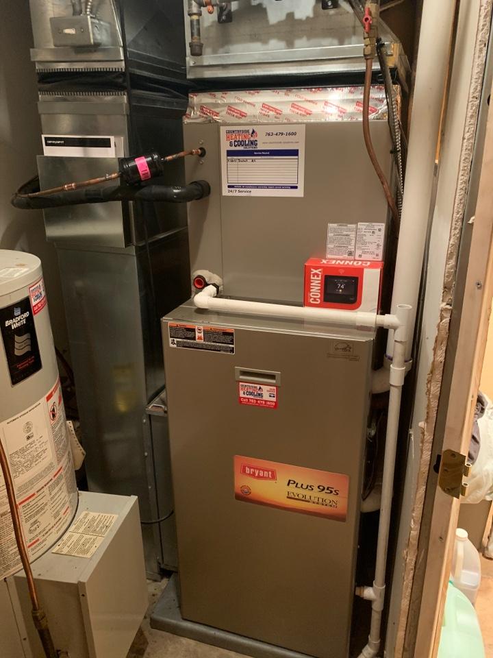 Mound, MN - Install new Bryant evolution air conditioner with connex thermostat in mound MN