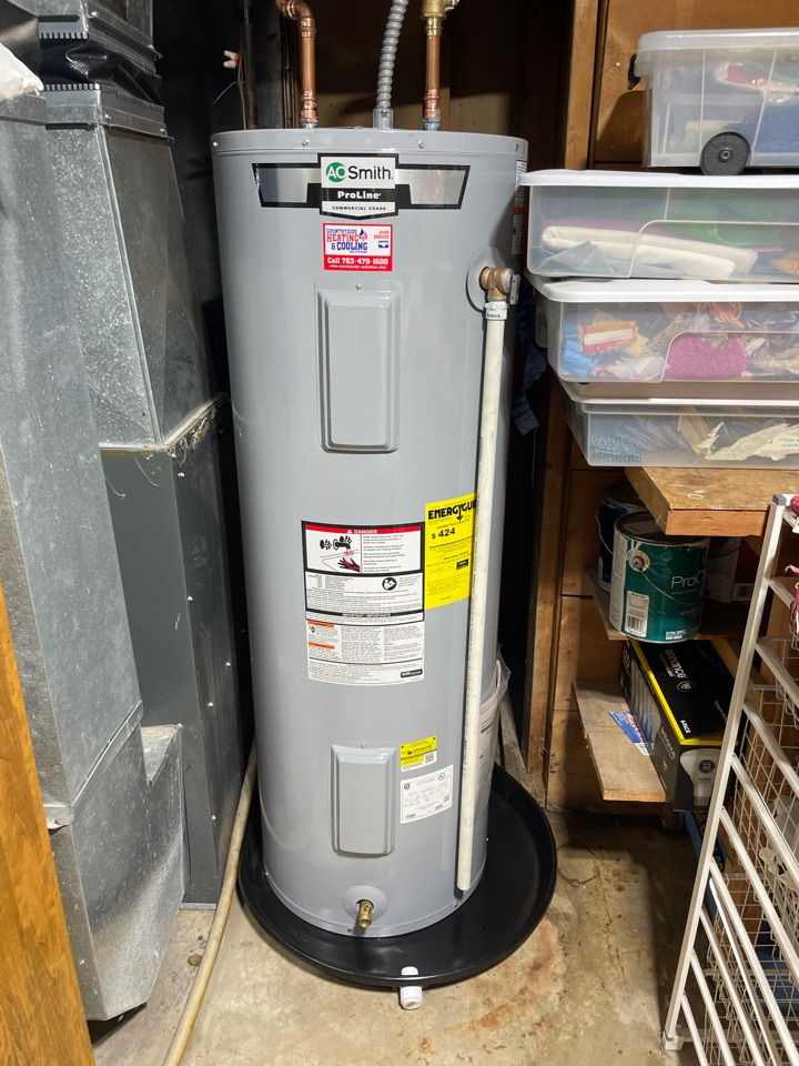 Installed a new a.o. Smith water heater at a home in mound, MN!