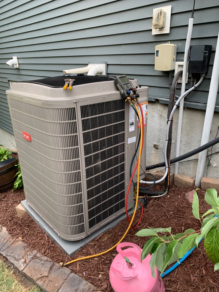 Cologne, MN - Install new Bryant evolution furnace and air conditioner with connex thermostat in cologne MN