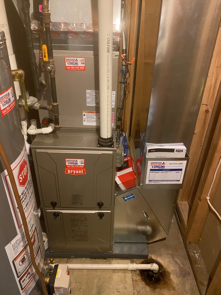 Bryant furnace install mound MN