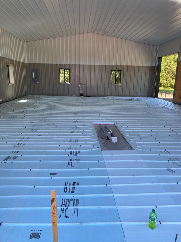Maple Plain, MN - Infloor heat install Minnetrista MN