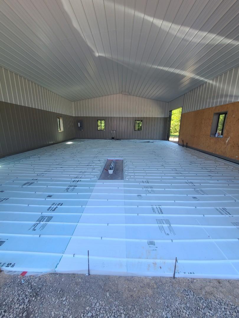 Maple Plain, MN - Ran infloor heat tubing in Minnetrista MN