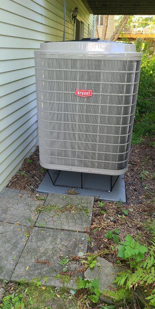 Bryant heat pump installed in Eden Prairie MN