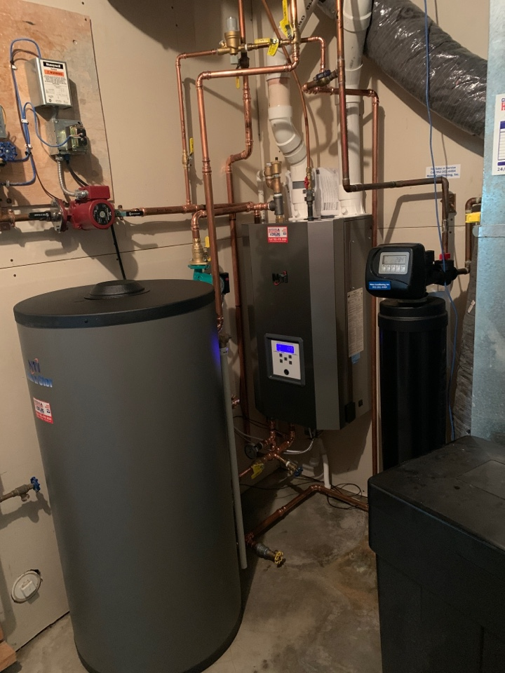 Cologne, MN - Install new NTI boiler with indirect water heater in cologne MN