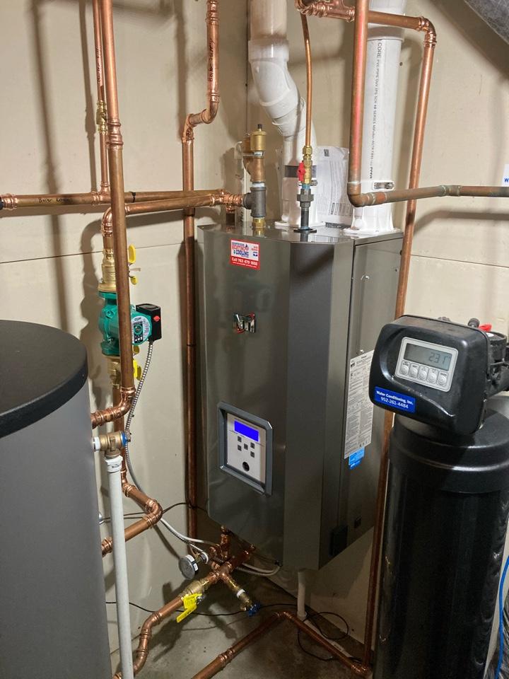 Cologne, MN - Boiler install in Cologne
