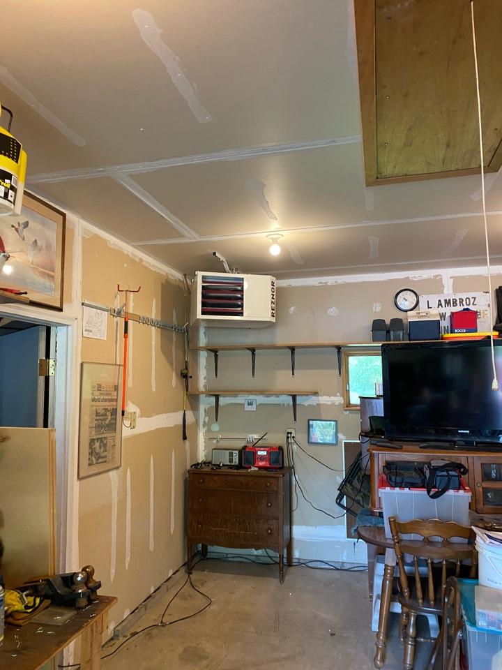 Reznor garage heater install Chaska MN