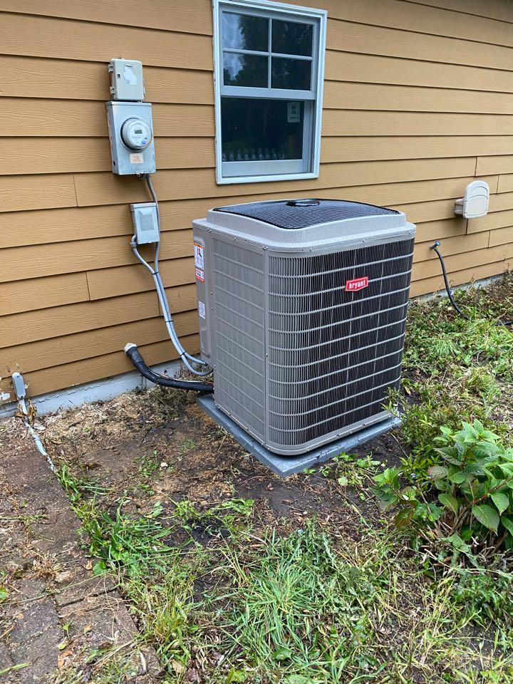 Bryant furnace and ac install Medina MN