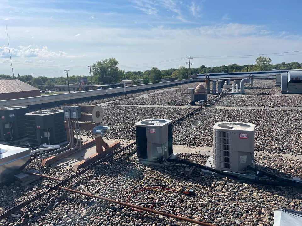 Repaired several Goodman ac units at the Orono station store!