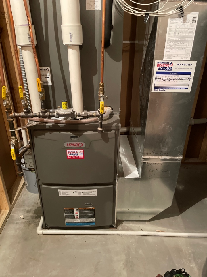 Tuned up a Lennox furnace at a home in Eden prairie, MN!