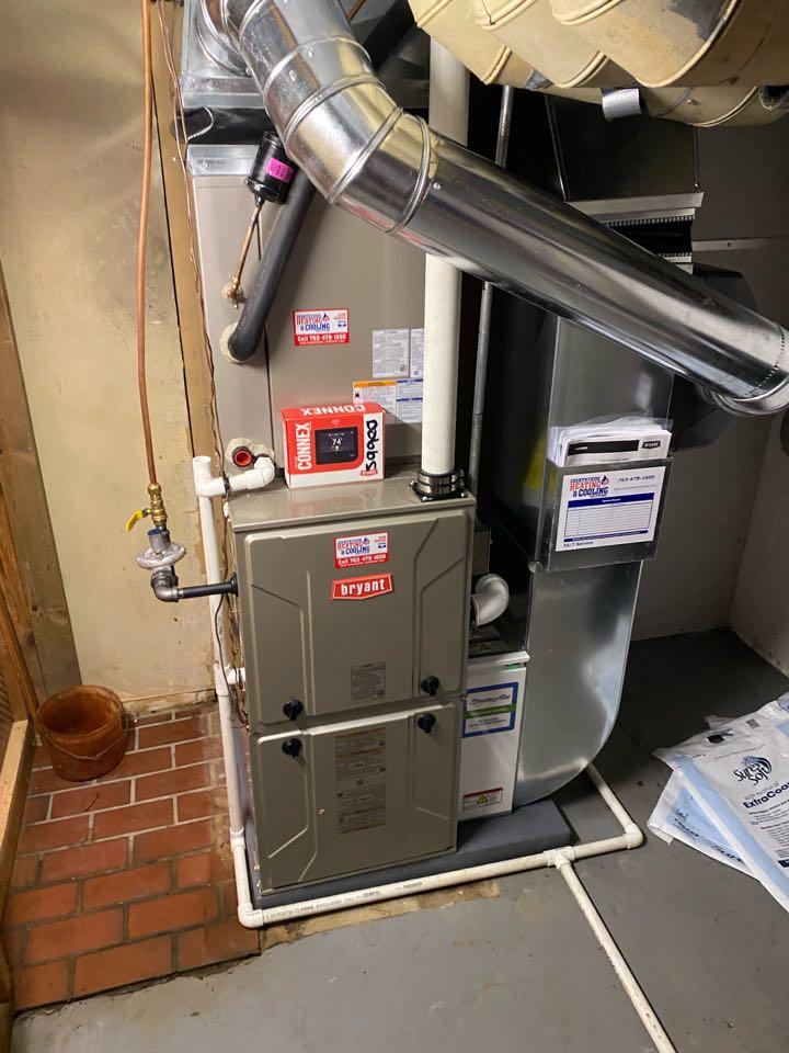 Bryant furnace ac and humidifier install Medina MN