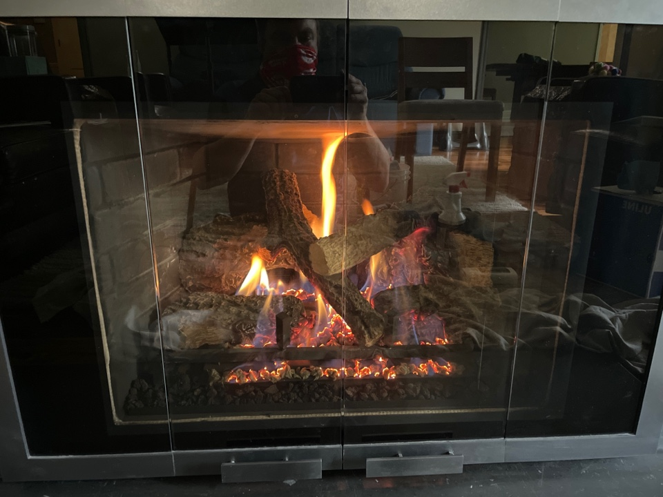 Repaired a heat n glo fireplace at a home in Orono, MN!