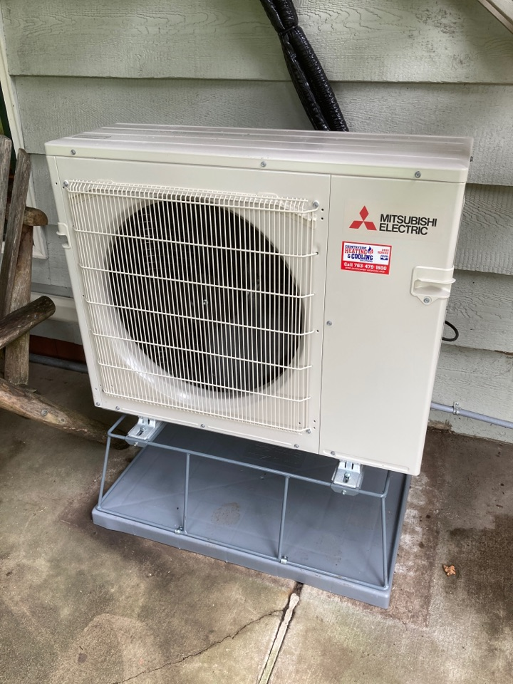 Ductless heat pump install in Maple Plain