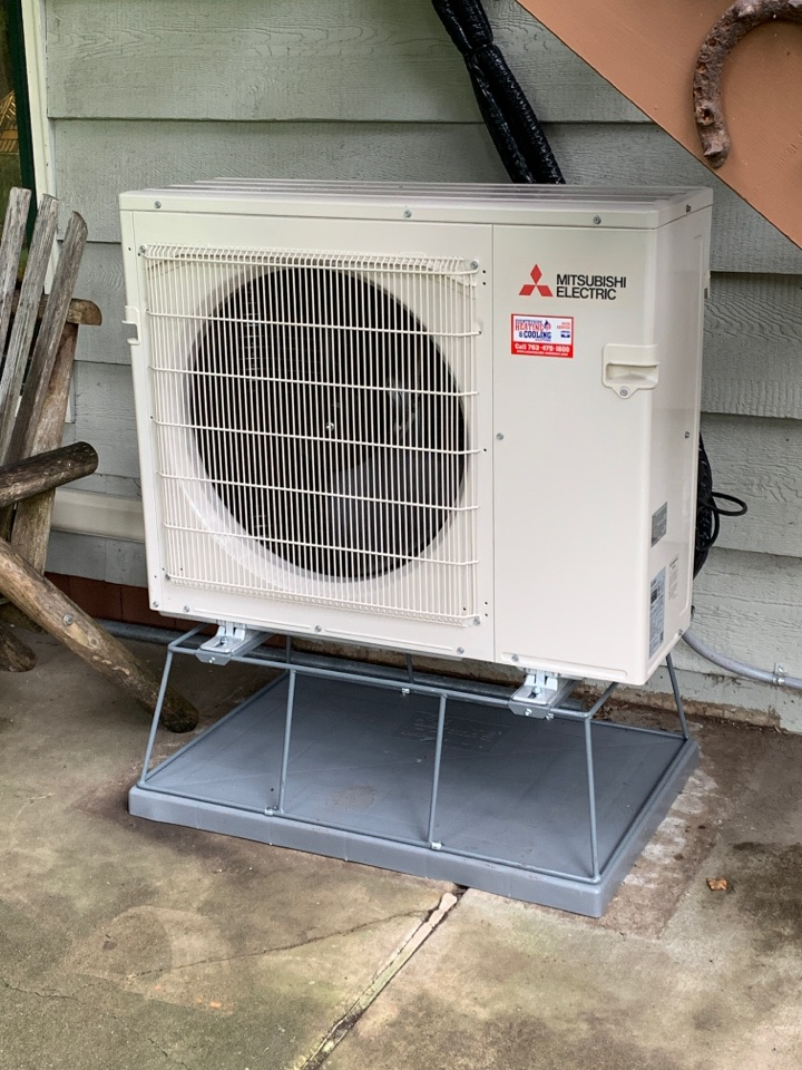 Install new ductless heat pump in maple plain MN