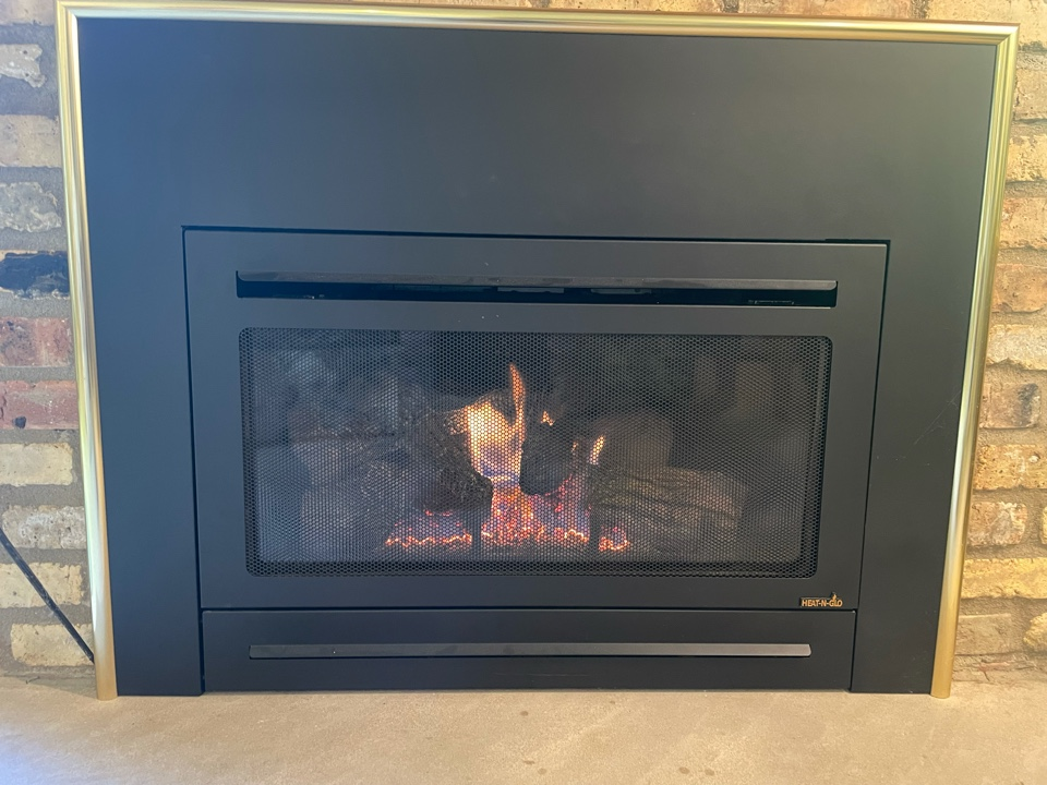 Tuned up a heat n glo fireplace at a home in Plymouth, MN!