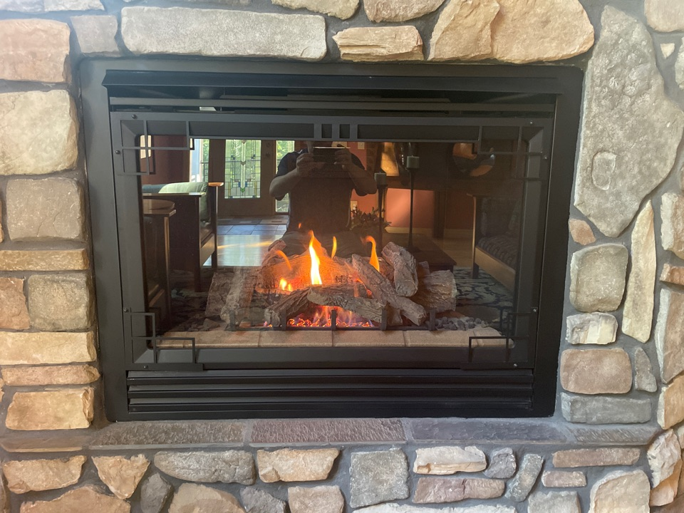 Performed a fireplace tune up at a home in Minnetonka, MN!