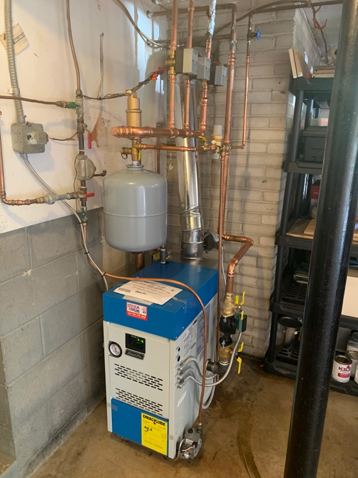 Install new slant fin boiler in mound MN