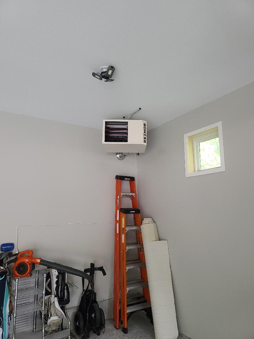 Reznor garage heater installed Plymouth MN