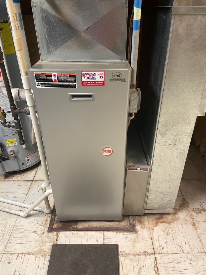 Repaired a Payne furnace at a home in mound, MN!