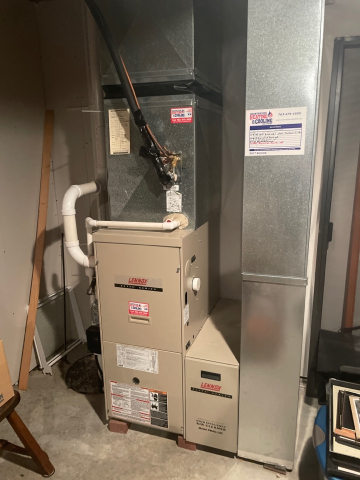Performed a furnace tune up at a ho e in long lake, MN!