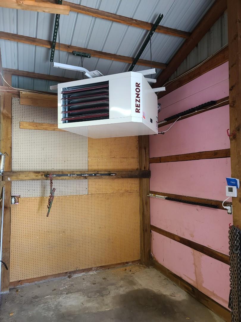 Big Lake, MN - Reznor garage heater installed in Big Lake MN