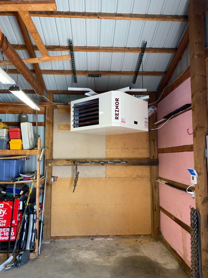 Big Lake, MN - Reznor garage heater install Big lake MN