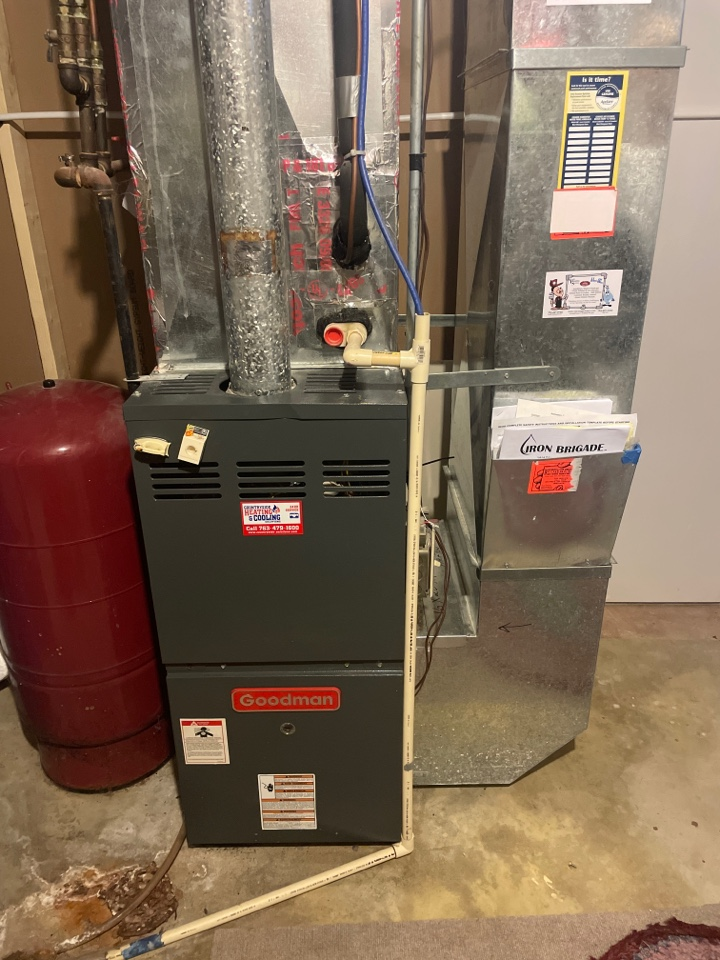 Performed a furnace tune up on a Goodman furnace at a home in minnetrista, MN!