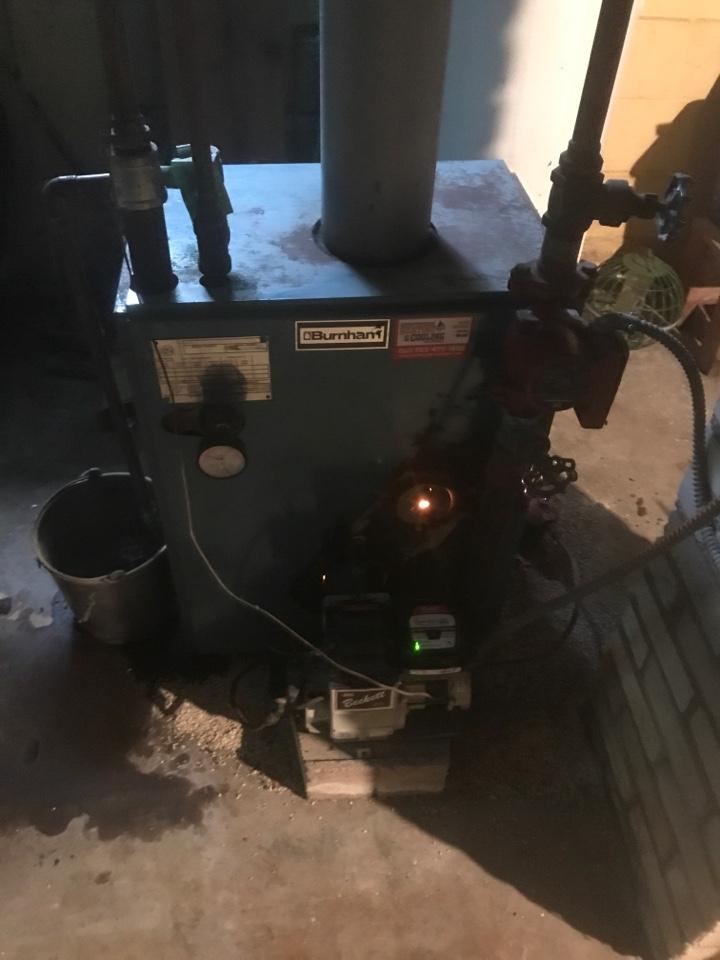 Performed an oil burning boiler maintenance in Orono Minnesota