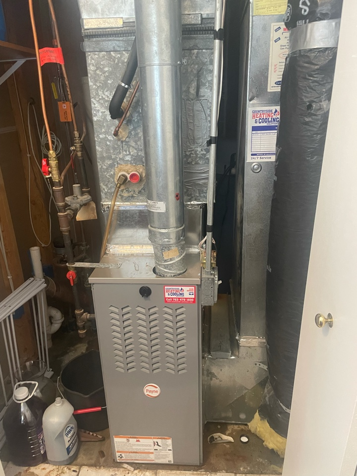 Tuned up a Bryant furnace at a home in waconia, MN!