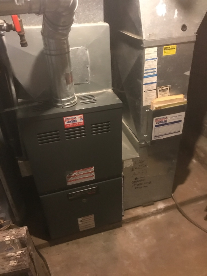 Shorewood, MN - Performed preventative maintenance on furnace in Shorewood Minnesota. Also replacing the exhaust assembly - nh