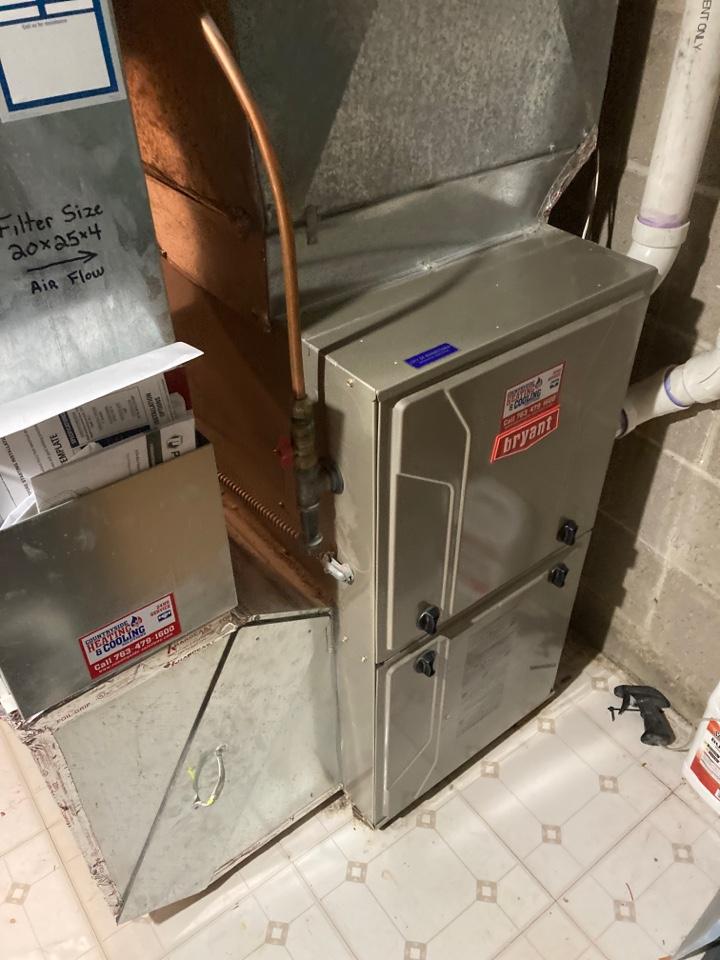 Bryant furnace maintenance in Minnetonka