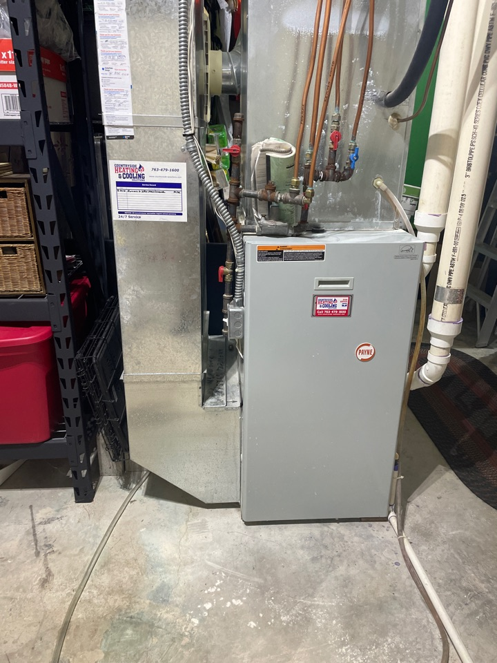 Tuned up a Payne furnace at a home in Delano, MN!